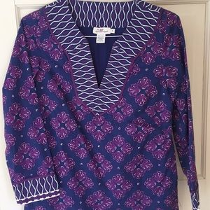 Vineyard vines lined tunic. Size 4